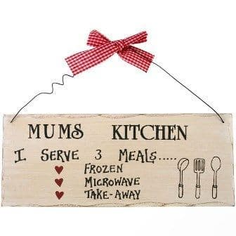 mum's kitchen sign